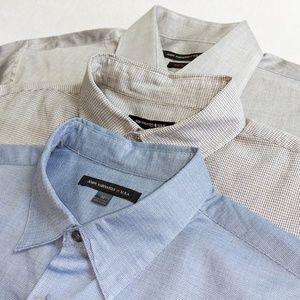 JOHN VARVATOS Lot of 3 Dress Shirts M 15 1/2
